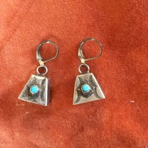 Jewelry - Sterling Silver & Turquoise bell earrings.